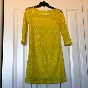 Gianni Bini Yellow Midi Dress